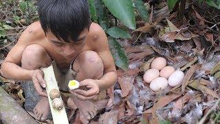 Primitive Life: Roasted Egg - Find Food In Wild