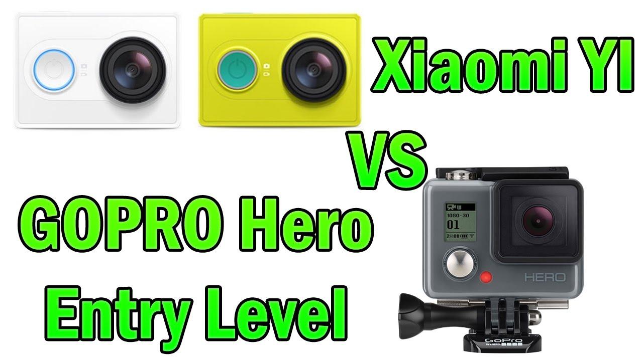 Xiaomi yi vs gopro hero action camera comparison cameralah com gopro - Xiaomi Yi Vs Gopro Hero Entry Level