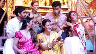 Bollywood Biggest Sindoor Khela Ceremony at Durga Puja 2019  Rani Mukerji Karan Johar Kajol