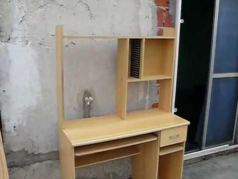 Mesa de computacion tipo escritorio para pc youtube - Como hacer una mesa de ordenador ...