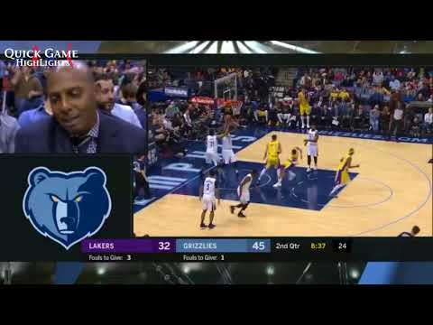 Los Angeles Lakers vs Memphis Grizzles Game Highlights January 15, 2017