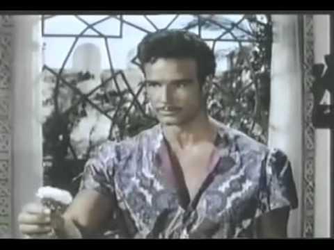 Steve Reeves blue rose scene Thief of Baghdad