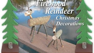 How to make miniature Firewood Reindeer Christmas Decorations Easy DIY