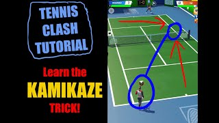 Learn the KAMIKAZE trick to beat STRONGER PLAYERS! Tennis Clash TUTORIAL. screenshot 3