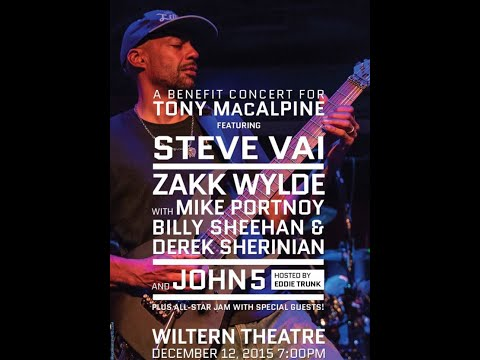 Tony MacAlpine benefit feat. Tom Morello, Zakk Wylde, Steve Vai and more Dec 12 2015 video released!