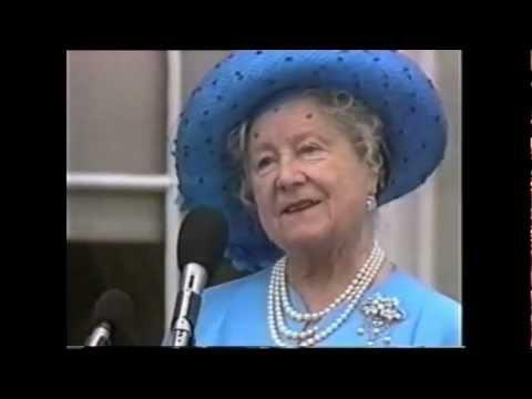 Queen Mother visits Northern Ireland (1988)