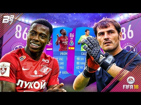 ICON IN A PACK!! SBC PROMES AND CASILLAS LEAGUE SQUAD BUILDER CHALLENGES! | FIFA 18 ULTIMATE TEAM