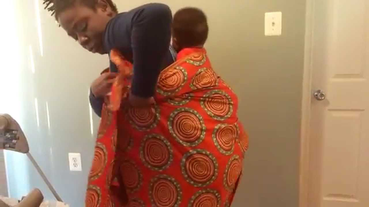 How To Use African Baby Wrap Watch With Subtitles Youtube