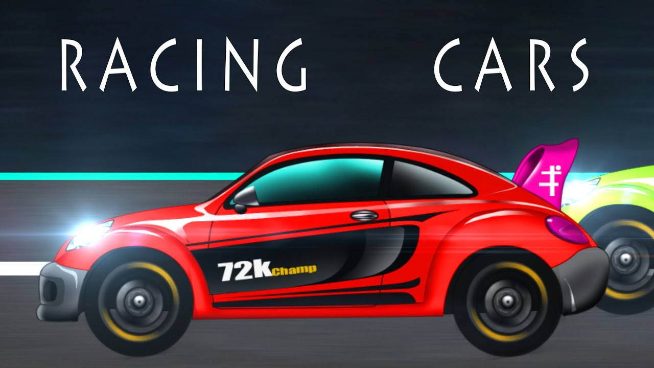 sports car car race cartoon car