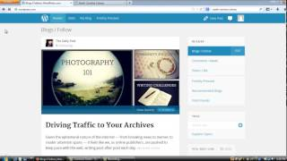 "Part 6 Workshop Wordpress How to ""follow"" other people's blogs/sites"