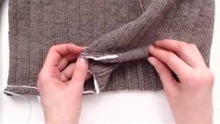 Чтобы край НЕ ЗАКРУЧИВАЛСЯ | Простейший способ отделки края вязания