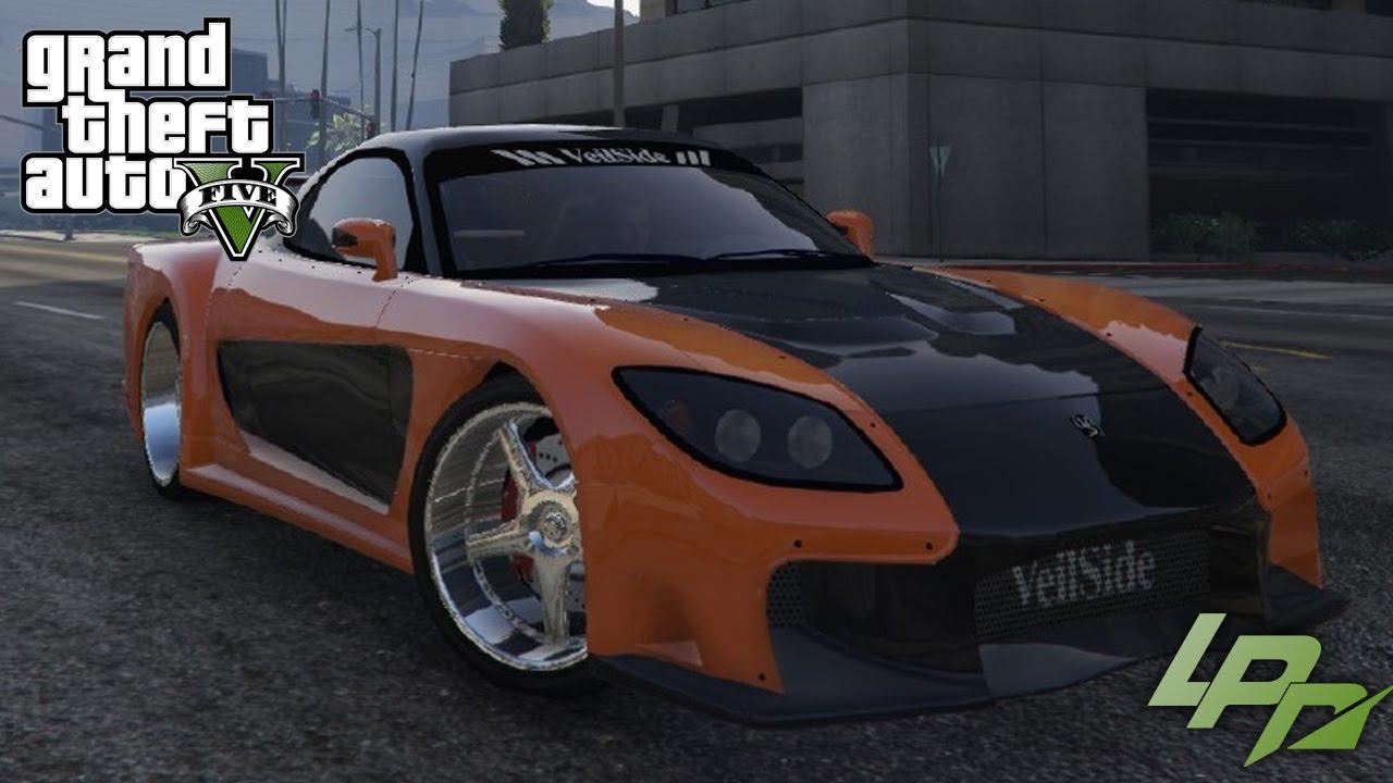 GTA V CARMODS - MAZDA RX7 FAST & FURIOUS TOKYO DRIFT - YouTube