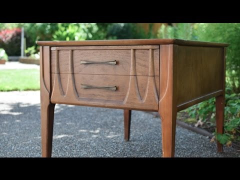 DIY Furniture Makeover: Mid Century Table Start to Finish