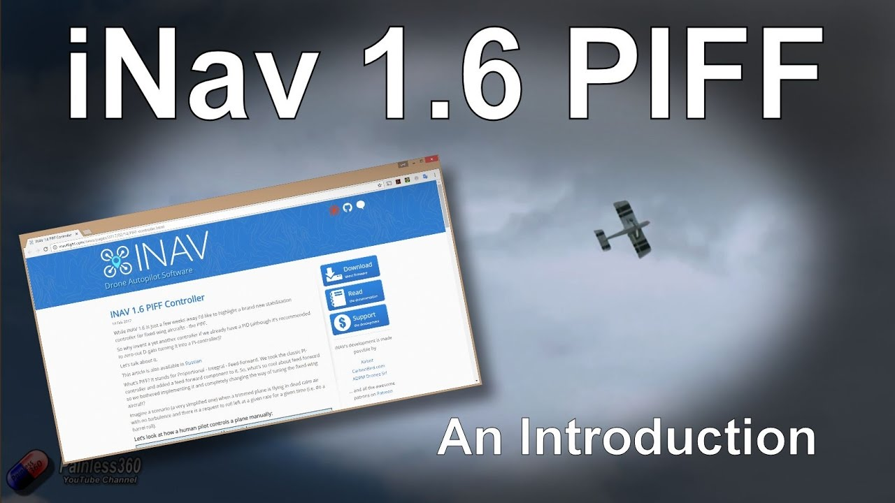 iNav 1 6 - Understanding the new PIFF controller for fixed wing planes