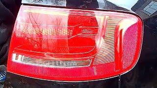 Audi A4 B8  Замена задней лампочки,тормозов
