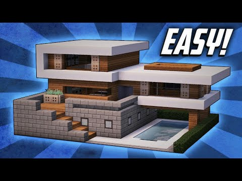 Casa moderna para supervivencia minecraft creditos a for Casa moderna 1 8