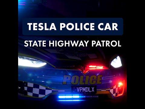 Tesla police patrol car!