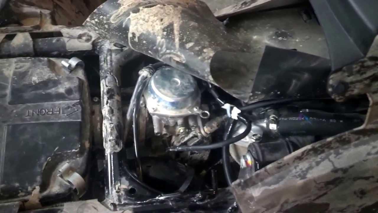 Installing a submarine snorkel on Honda Rubicon 500  YouTube
