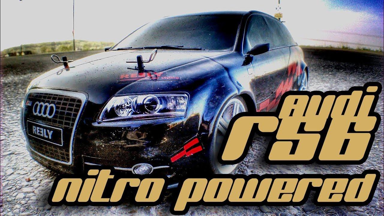 Nitro Powered 1 10 Audi Rs6 Rc Car Hd Youtube