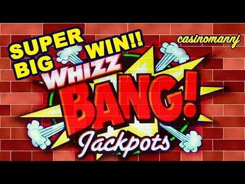 WHIZZ BANG JACKPOTS SLOT - Super BIG WIN!! - MAX BET!!! - Slot Machine Bonus - 동영상