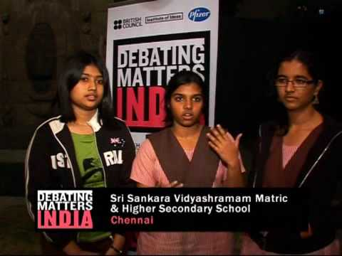 Indian students debate what matters