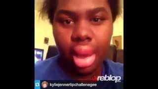 Kylie Jenner Lip Challenge Compilation Fail - Shot Glass #KylieJennerChallenge! REBLOP.COM