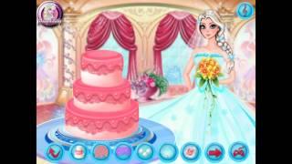 NEW мультик для девочек—Свадебный торт для Эльзы—Игры для детей