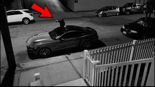 SOMEONE TRIED STEALING MY CAR! *LIVE FOOTAGE*