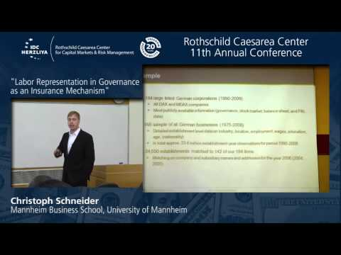 "Dr. Christoph Schneider: ""Labor Representation in Governance as an Insurance Mechanism"""