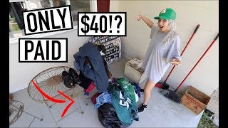 CAN'T BELIEVE WE GOT ALL THIS FOR $40 - Unreal Thrift Bag Sale!