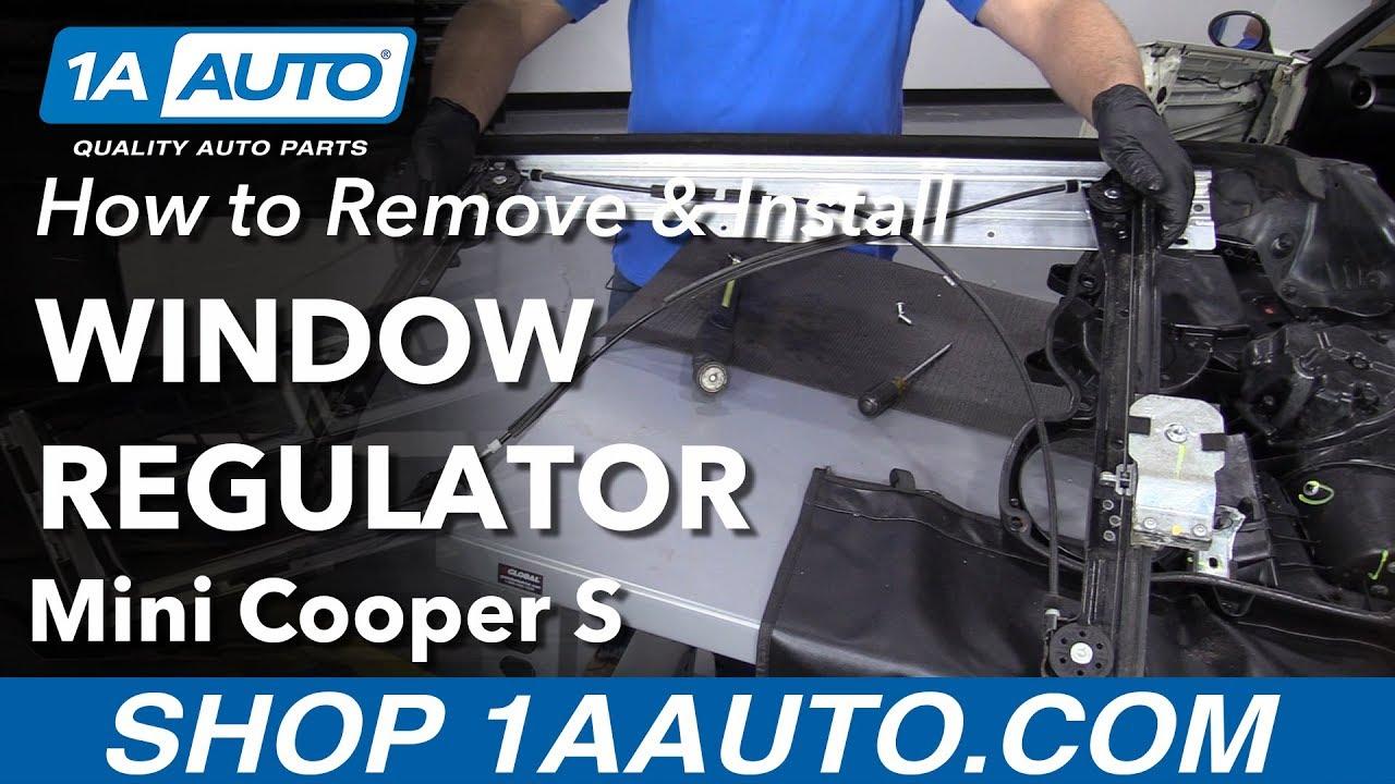 How To Remove Window Regulator 05 08 Mini Cooper S Youtube