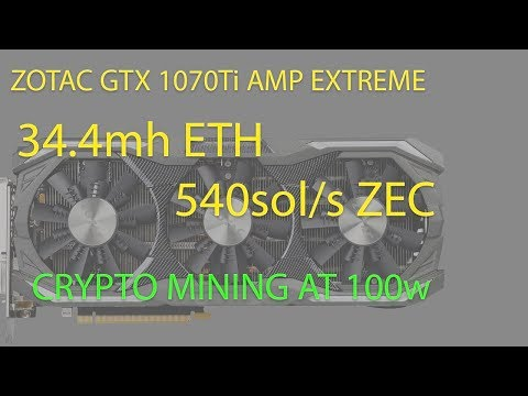 Live VLOG#70: Zotac 1070 Ti AMP Extreme Edition - Unbox, Install, Cryptocurrency - Power - Heat Test