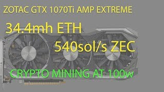 Live VLOG#70: Zotac 1070 Ti AMP Extreme Edition - Unbox, Install, Cryptocurrency - Power - Heat test Video