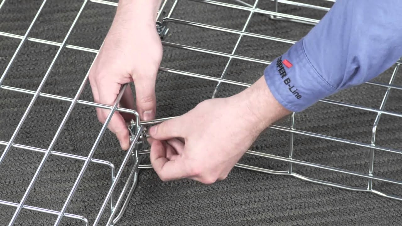 How to Bend FLEXTRAY Wire Basket Cable Tray - YouTube