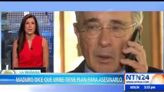 Maduro dice que Álvaro Uribe trama un plan para asesinarlo