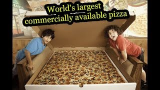 World's largest commercially available pizza