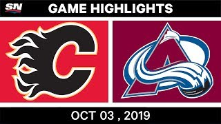 Nhl Highlights | Flames Vs. Avalanche   Oct. 03, 2019