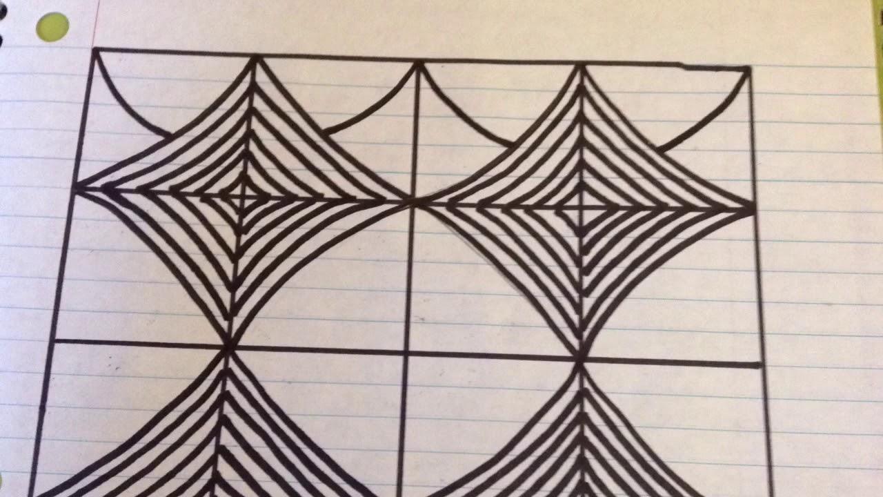 رسم زخرفة تشبه المربعات المتداخلة في بعضها رقم 44 Youtube