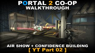 Portal 2 CO-OP walkthrough 02 ( No commentary ✔ ) Mass and Velocity