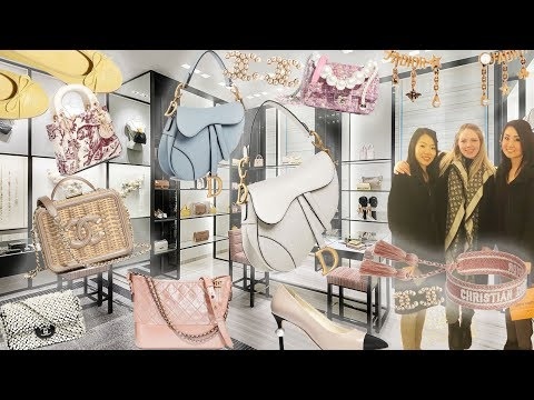 DIOR & CHANEL Luxury Shopping Vlog☆CHANEL Bags Shoes Accessories☆Dior Saddle Diorama Jewelry & More