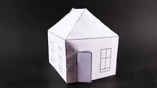 Paper Craft house | How to make a paper house very easy...
