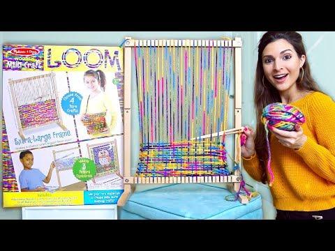 Testing A GIANT CRAFT LOOM For Yarn Weaving