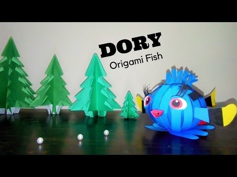 Baby Dory Origami Fish | Finding Dory Fish For Kids