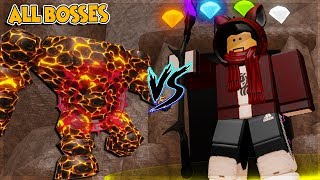 HOW TO BEAT ALL BOSSES AND GOLEMS *ALL LEGENDARY* IN WIZARD SIMULATOR