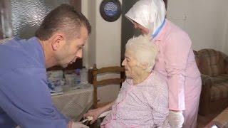 Evde bakım hizmeti 80 yaşındaki hastanın eli ayağı oldu