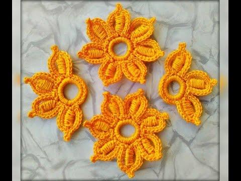 Ирландское вязание связать красивый цветок крючком видео