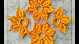 Уроки вязания. Цветок  крючком №2. Ирландское кружево. Flower for Irish