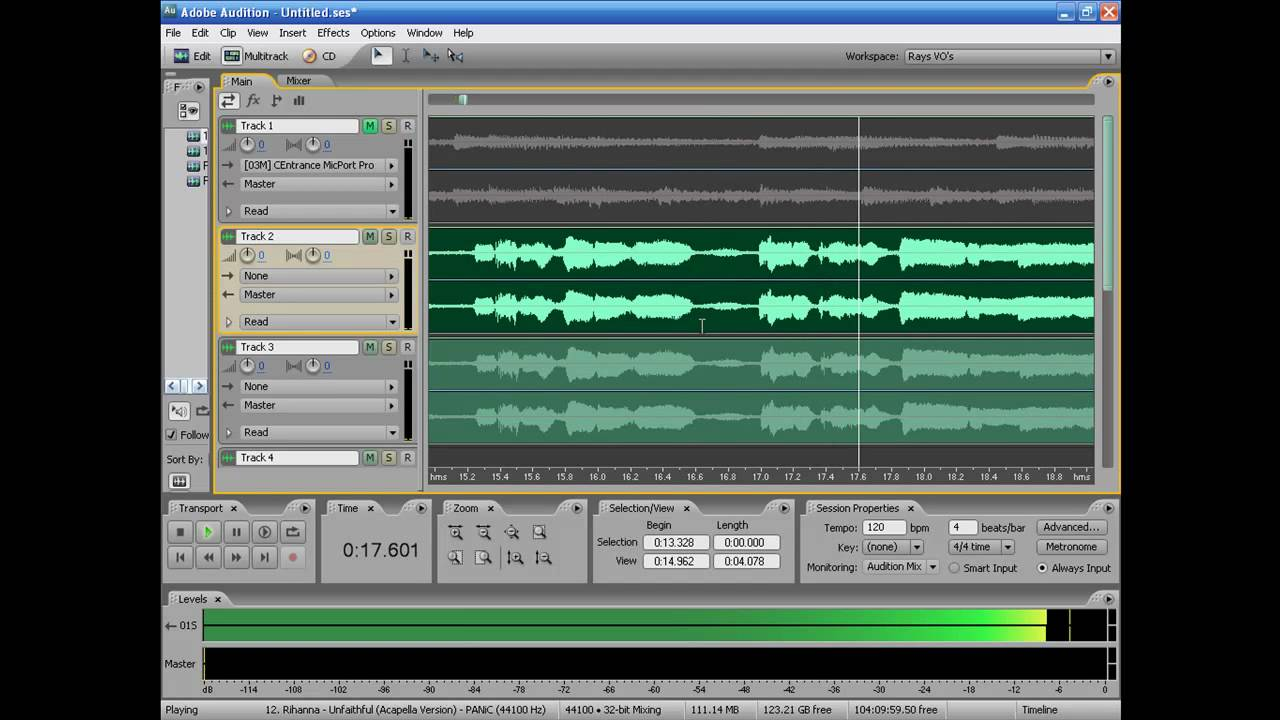 vocal mixing in adobe audition 3 0 part youtube. Black Bedroom Furniture Sets. Home Design Ideas
