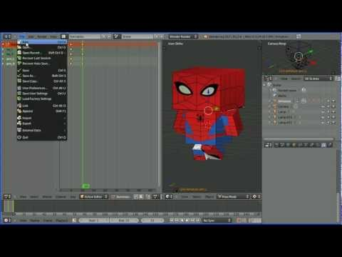 Blender Tutorial - Creating and Editing Actions for Re-use in Animations and Games