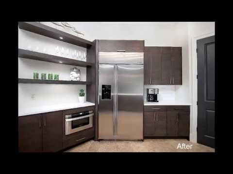 Modern Kitchen Remodel Done With New Floating Shelves ...